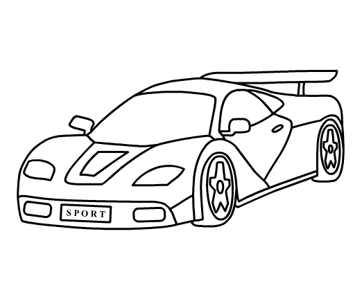 Coloring Pages Car Printable : Cars colouring pages games color in your favorit