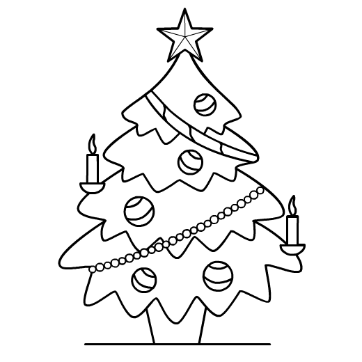 christmas tree coloring pages printable  Coloring Pages