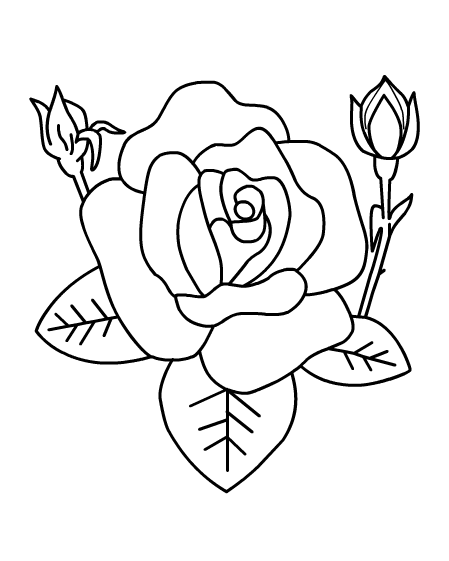 rose coloring pages games - photo#20