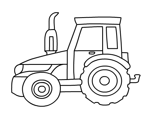 Tractor Easter Coloring Coloring Pages